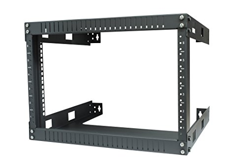 (KENUCO 6U Wall Mount Open Frame Steel Network Equipment Rack 17.75 Inch Deep)