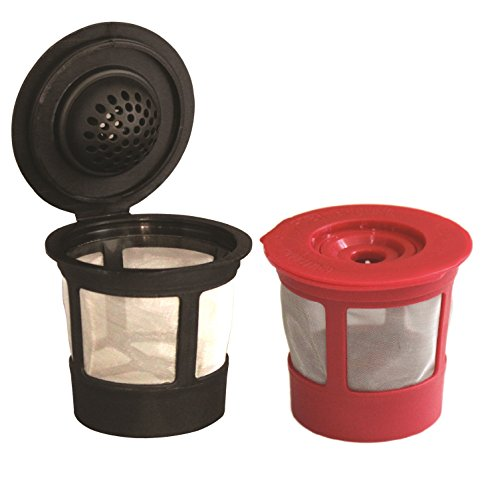 Mega Cocina Refillable K-cup Pods, - Red Pod