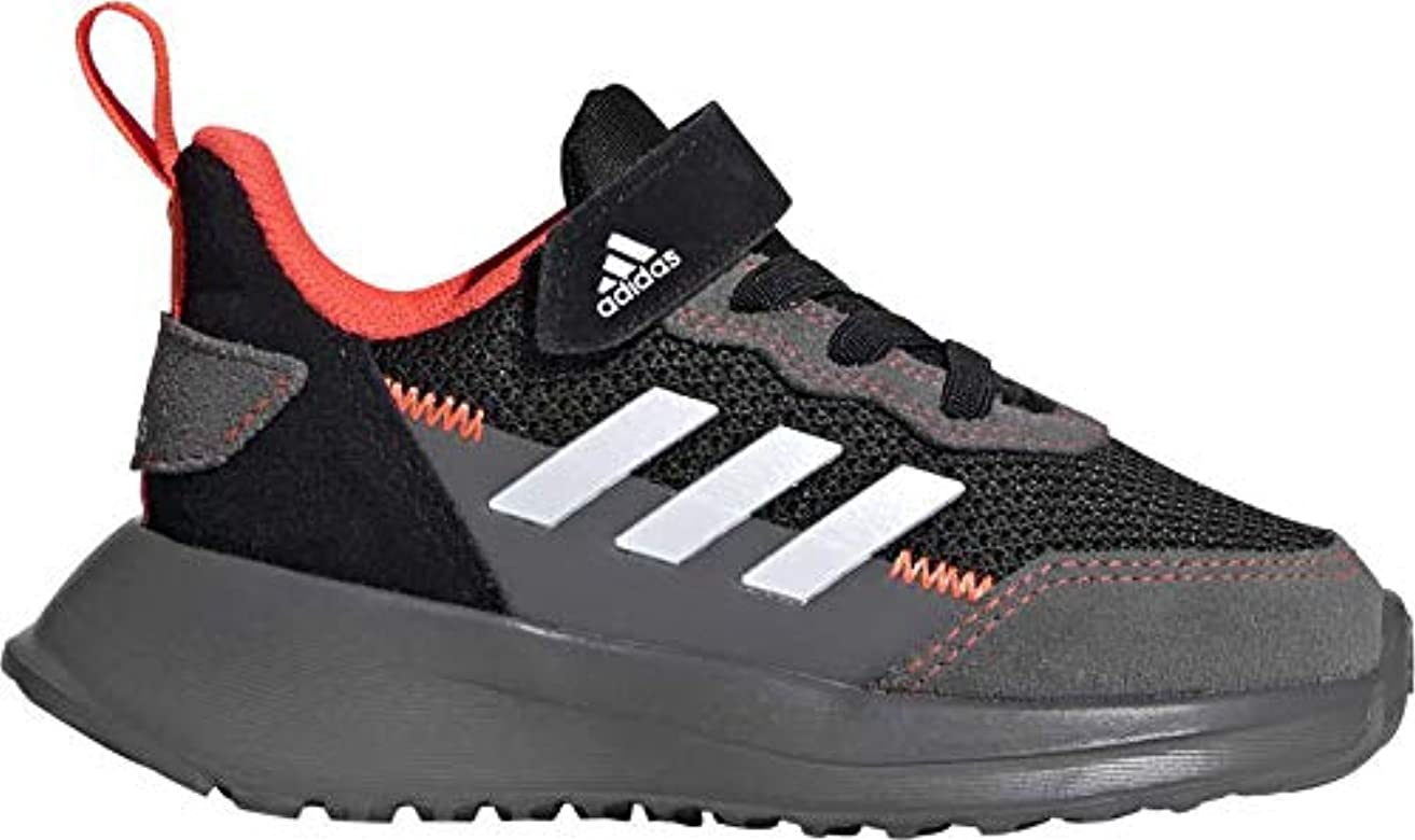 Adidas RapidaRun Elite S&L EL I, Zapatillas Running Bebé, Negro Core Black FTWR White Solar Red, 23 EU: Amazon.es: Zapatos y complementos