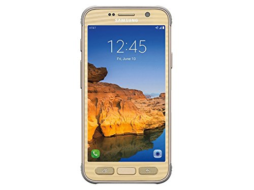 Samsung Galaxy S7 ACTIVE G891A 32GB Unlocked GSM Shatter-Resistant, Extremely Durable Smartphone w/ 12MP Camera - Sandy Gold (Renewed) (Best Smartphone For Tethering)