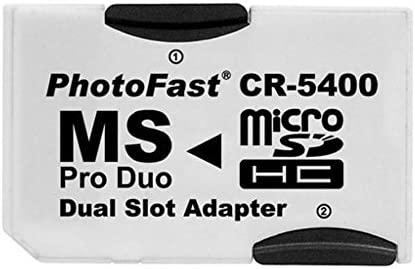 actecom® Adaptador Doble Tarjetas Micro SD/MICROSD A PSP Memory Stick Pro Duo