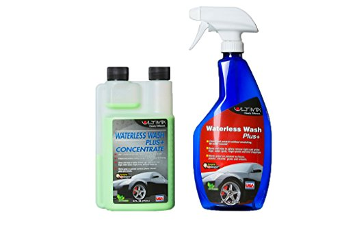 Ultima Waterless Wash Plus Concentrate—give your car the shine it used to have, and keep it, too | Bundle: 16 oz with 22 oz Spray - Buff Scratches You Car On Can Out
