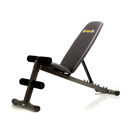 Body Champ 5 Position Adjustable Utility Weight Bench Flat / Incline / Decline FID / Multi function Strength Training