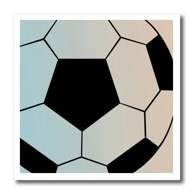 3dRose ht_110591_3 Big Soccer Ball-Sports Art-Iron on Heat Transfer for Material, 10 by 10-Inch, White