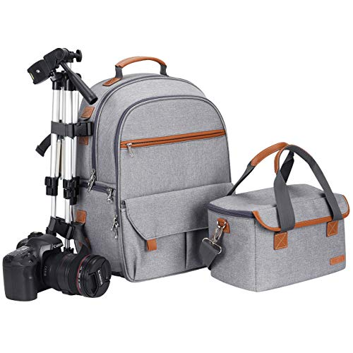 Endurax Waterproof Camera Backpack for Women and Men Fits 15.6' Laptop with Build-in DSLR Shoulder Photographer Bag