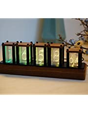 Nixie Tube Clock Qianjie Wood RGB Digital Clock with Beautiful Package and Quick Delivery in a Week for Present & Birthday Gifts