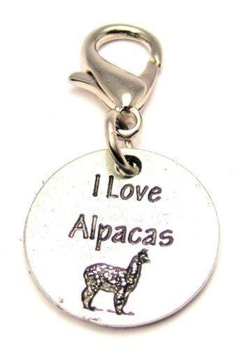 I Love Alpacas ChubbyChicoCharms Pewter Charm Zipper Pull