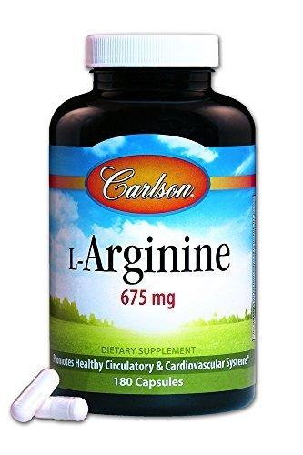 Carlson Laboratories L-Arginine 180 Capsules, 0.3 Pound