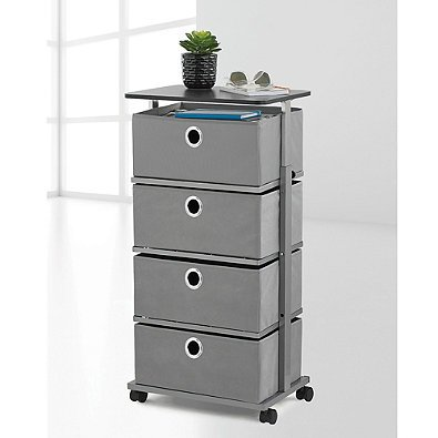 Studio 3B 3-Drawer Adjustable-Top Storage Cart in Grey