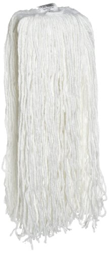Rubbermaid Commercial Economy Rayon Cut-End Mop, No.32 Size, 1-Inch Headband, White (FGV41900WH00)