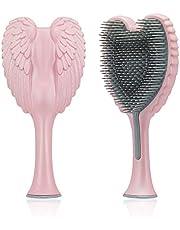 Tangle Angel 2.0 Hair Brush for Thick Curly Thin Long Short Wet or Dry Hair,Detangler Brush,Good Massage and Anti Static Detangling Brush for Women,Girls & Kids(190mm,soft touch pink)