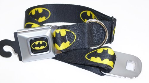 Batman Seat Belt Buckle Dog Collar 1.5
