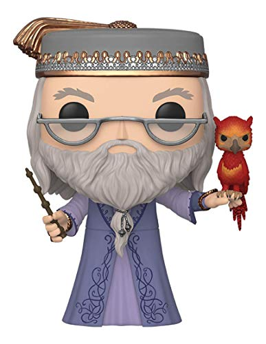 Funko- Pop Harry Potter 10 Dumbledore w/Fawkes S10 Figura Coleccionable, Multicolor (48038)