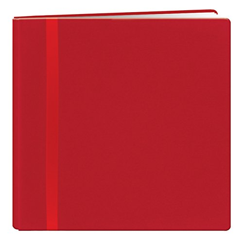 Fabric Padded Photo Albums (Pioneer 12 Inch by 12 Inch Snapload Fabric Cover with Ribbon Trim Memory Book, Red)