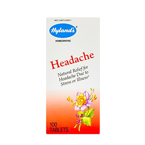 Hyland's Headache Tablets, Natural Relief of Headache, 100% Natural, Acid, Aspirin and Acetaminophen Free Headache Relief Tablets, 100 Count