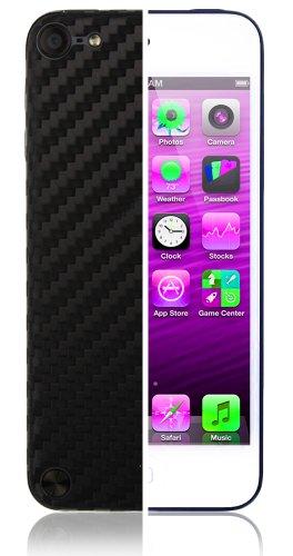 Ipod Carbon Fiber Skin - Skinomi Apple Ipod Touch 5 Screen Protector + Carbon Fiber Full Body, TechSkin Carbon Fiber Skin for Apple Ipod Touch 5 with Anti-Bubble Clear Film Screen