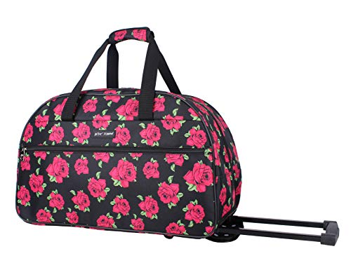 Betsey Johnson Designer Carry On Luggage Collection – Lightweight Pattern 22 Inch Duffel Bag- Weekender Overnight…