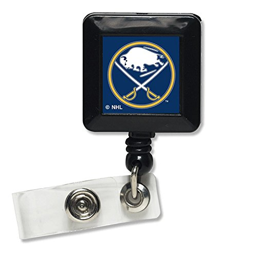 NHL Buffalo Sabres Retractable Badge Holder, Black (Official Nhl Buffalo)