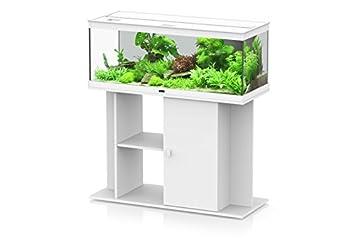 Mueble para Acuario estilo LED 100 Aquatlantis blanco: Amazon.es: Productos para mascotas