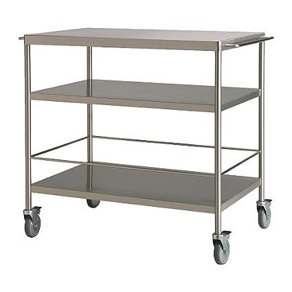 Amazon.com: IKEA FLYTTA - Kitchen trolley, stainless steel ...