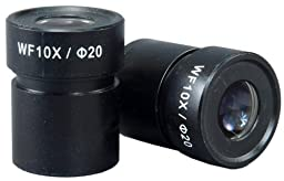 OMAX A Pair of WF10X/20 WideField Eyepieces with 30.5mm mount size for Stereo Microscopes