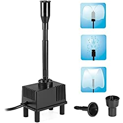 Decdeal 10W Submersible Water Pump with LED Light for Aquarium Fish Tank Pond Garden 600L/H AC 110V