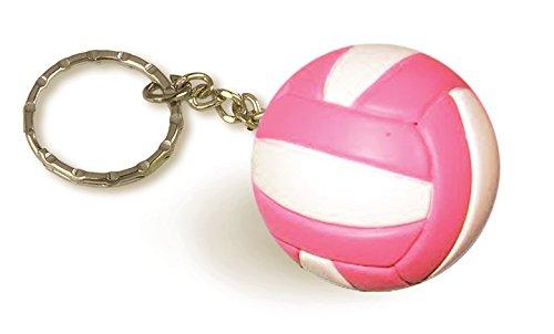 Tandem Sport Volleyball Keychain, Pink/White