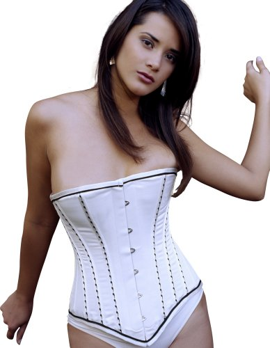 Vollers Ivory Satin - Vollers Ivory Satin Corset with Embroidered Detail V1128 18'' Waist