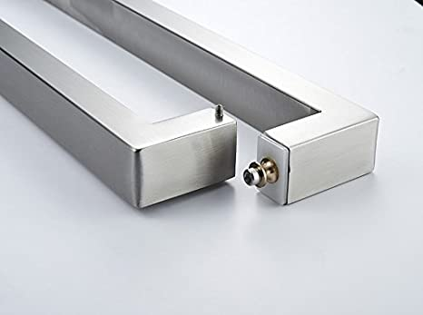 TOGU TG-R3825 Heavy Duty Commercial Grade 900mm//36 inches Square//Rectangle Shape Solid 1.2mm Thick Stainless Steel 304 Push Pull Door Handle Full Brushed Stainless Steel Finish