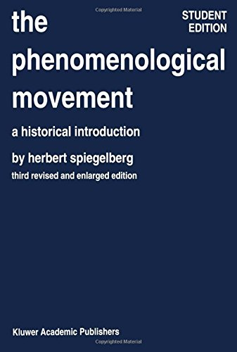 Phenomenological Movement (The Phenomenological Movement: A Historical Introduction)