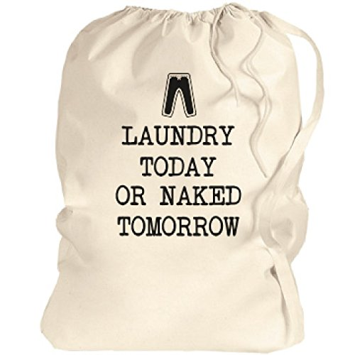 Funny College Student Gift: Canvas Laundry Bag - Funny Laundry
