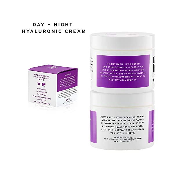 Beauty Shopping No B.S. Hyaluronic Acid Cream For Face – Day + Night with Hyaluronic Acid,