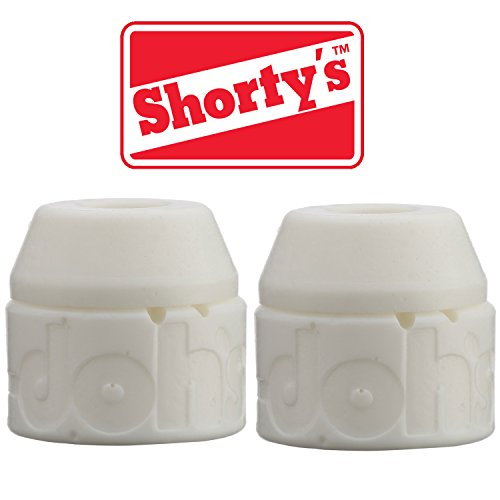 (Shorty's White Doh-Doh Bushings 98a Very Hard (2 sets) For Skateboards & Longboards)