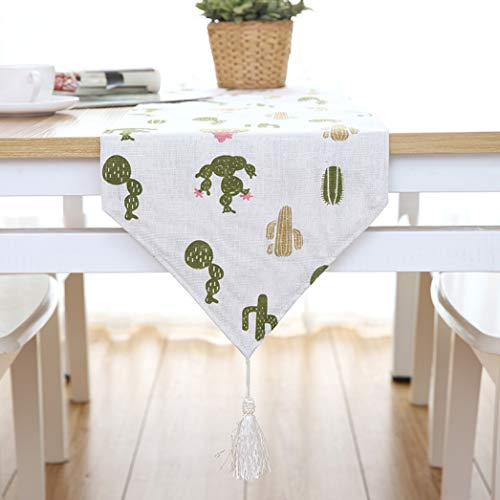 US-ROGEWIN Table Runners Refined Cotton Linen Modern Geometric Pattern for Party Wedding Decor Household Tablecloth]()