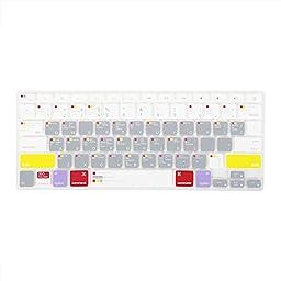 GMYLE(R) Mac OS X OSX-M-CC-2 Shortcuts Hot Keys Keyboard Cover for Macbook Pro Air Retina 13 15 17 US model - Function Key Keyboard Skin Protector