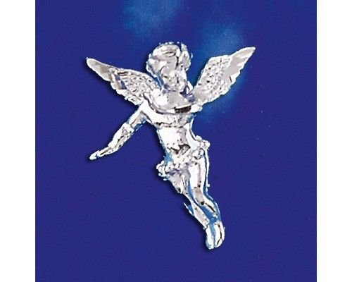 Sterling Silver Angel Pendant Messenger of God Italian Charm Solid 925 Italy New Jewelry Making Supply Pendant Bracelet DIY Crafting by Wholesale Charms ()