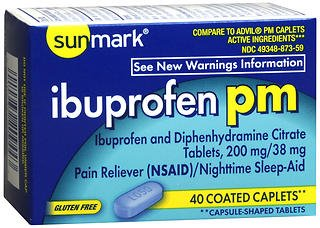 Sunmark Ibuprofen Pm Coated, 40 tabs by Sunmark (Pack of 2)