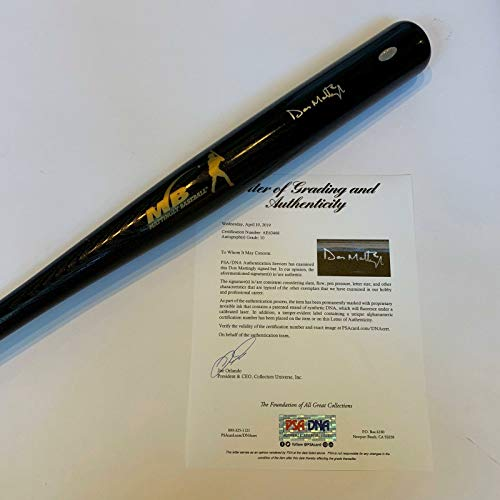 (Beautiful Don Mattingly Signed Baseball Bat PSA DNA Graded Gem Mint 10 Yankees)