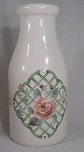 Pfaltzgraff Garden Trellis Decorative Milk Bottle