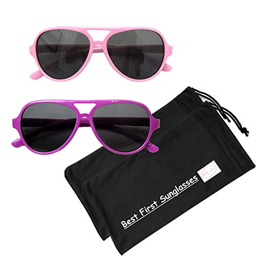 A120mm-Lil' Aviators-(Polarized)-Pink and Fuchsia -2 Pack