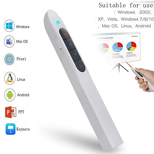 OSAYES Wireless Presenter, 2.4GHz Powerpoint Presentation Remote Control Office PowerPoint PPT Remote Controller Clicker Flip Pen