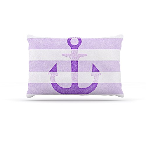 Kess InHouse Monika Strigel Stone Vintage Purple Anchor  Fleece Dog Bed, 50 by 60 , Multicolor