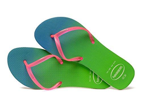 Havaianas - Sandalias de Caucho para mujer Multicolor beige/rosa