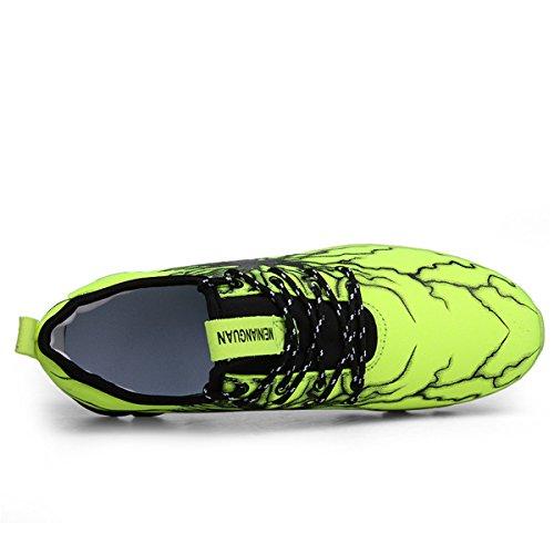 Ginnastica Scarpe LSGEGO da Passeggio da da Sportive Casual Leggera Moda Scarpe da Uomo Corsa Verde Sneaker Traspirante xwBP41xq