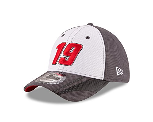 NASCAR Carl Edwards 2016 39THIRTY Stretch Fit Alt Driver's Cap, White/Graphite, Large/X-Large