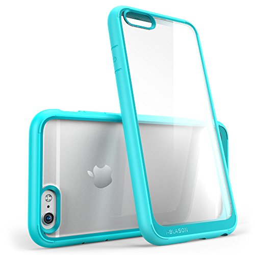 iPhone 6s Case, [Scratch Resistant] i-Blason Clear [Halo Series] Also Fit Apple iPhone 6 Case 6s 4.7 Inch Hybrid Bumper Case Cover - Blue Hone