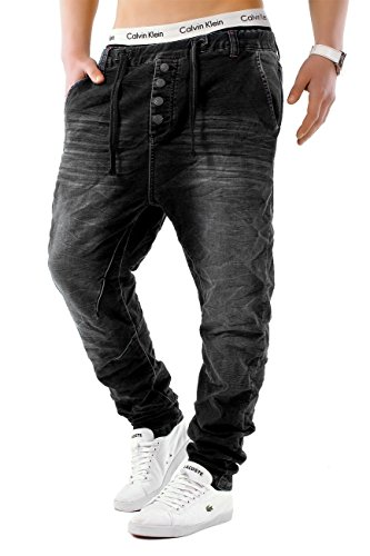 urban surface herren haremshose denim baggy pants h1242 american streetwear stylische. Black Bedroom Furniture Sets. Home Design Ideas