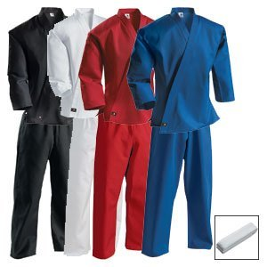 Century Martial Arts Middleweight Student Uniform with Elastic Pant - White, 3 - Adult ()
