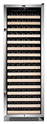 Whynter BWR-1662SD 166 Bottle Built-in Compressor Wine Refrigerator Rack and LED Display, Stainless-Steel, One Size