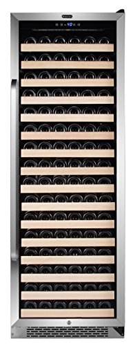 Whynter BWR-1662SD 166 Bottle Built-in Compressor Wine Refrigerator with Display Rack and LED display, Stainless-Steel